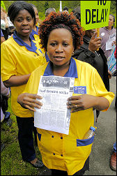 Whipps Cross hospital workers protest. Picture Paul Mattsson