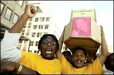 South African Workers demonstrate