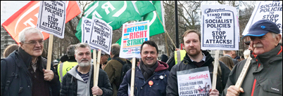 Defend the right to strike! RMT and NSSN lobby parliament