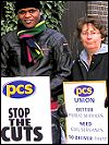 PCS members on strike