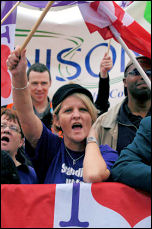 On the 'Save the NHS' march, 3 November 2007, photo Paul Mattsson