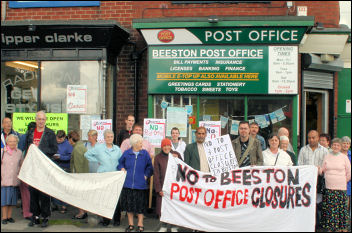 Leeds protest to stop Beeston post office closures, photo Nigel Poustie