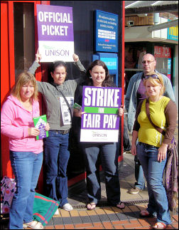 Unison Local Government strike on 16-17 July in Coventry, photo by Fiona Pashazadeh