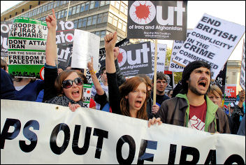Manchester STWC anti-war demonstration outside Labour Party conference, photo Paul Mattsson