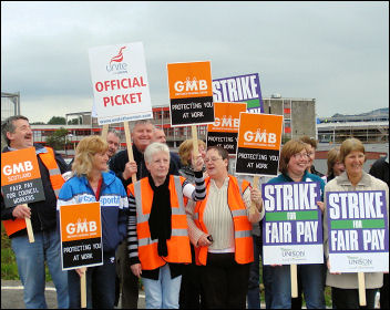 Scotland council workers strike, photo International Socialists