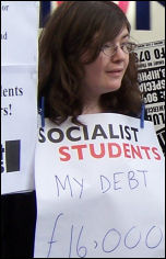 Bail out the students - not the bankers! - Campaign to Defeat Fees protest, photo Bob Severn