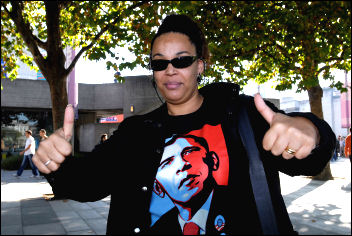 US president Barack Obama supporter, photo Paul Mattsson