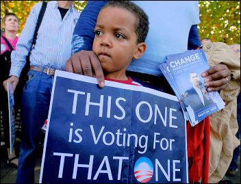 US president Barack Obama supporters, photo Paul Mattsson