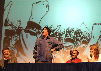 Mark Steel at Socialism 2008, photo Paul Mattsson