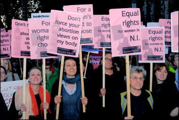 Protesting outside parliament in October 2008, photo Paul Mattsson