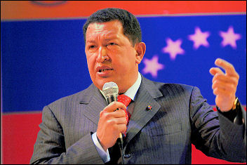 Venezuelan President Hugo Chávez in the UK , photo Paul Mattsson