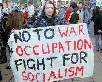 Lincoln Socialist Party against war on Gaza, photo Lincoln Socialist Party