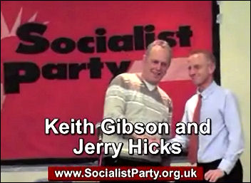 Video of Public meeting on lessons of the Lindsey oil refinery strike, Keith Gibson and Jerry Hicks, photo Socialist Party