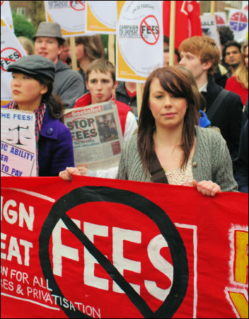 Fighting fees  - student demonstration in central London, photo Rob Sutton