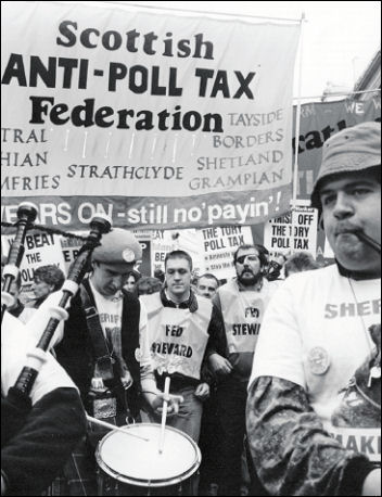 The Battle to defeat the Poll Tax, photo by Phil Maxwell