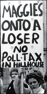 The battle to defeat the Poll Tax, photo by Dave Sinclair