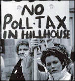 The battle against the poll tax, photo by Dave Sinclair