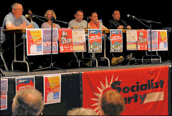 London Socialist Party meeting held in support of the Visteon workers (April 2009) with convenors from Visteon Basildon and Enfield, Rob Williams and Brian Denny, photo Paul Mattsson
