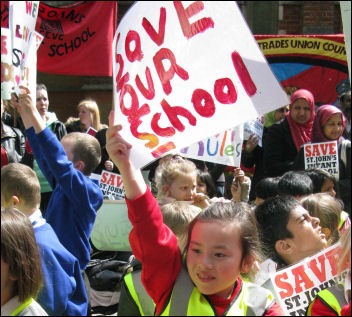 Do not close our schools: Medway schools protest, photo Jacqui Berry