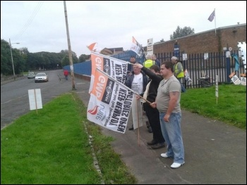 Four day strike at Remploy Springburn, photo by Matt Dobson
