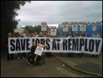 Remploy strike, Chesterfield, Sept 2012, photo Becci Heagney
