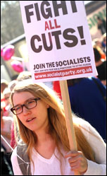 On the 26 March TUC demonstration, photo by Senan