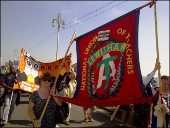 Sept 9th 2012 NSSN marching in Brighton for a one day strike against austerity