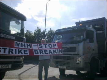 Protest picket at MHH Contracting, Sheffield