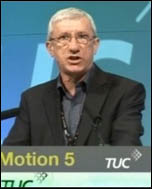 John McInally addressing TUC congress on the quetion of a 24-hour general strike