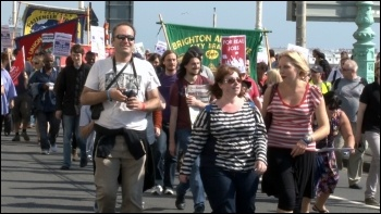 NSSN lobby of the TUC Congress 2012 in Brighton, photo Socialist Party