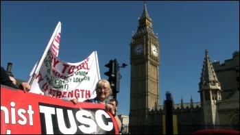 TUSC on the 28 March 2012 NUT London strike and demonstration , photo  Socialist Party