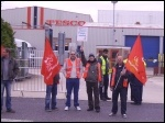 Tesco drivers strike in Doncaster, 9-10 October 2012, photo Alistair Tice