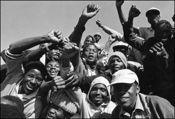The explosion of struggle of the working class onto the scene of history that undermined Apartheid , photo by Reflex