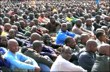 South African miners on strike 2012