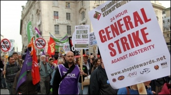 20 October 2012 TUC demo, photo Senan