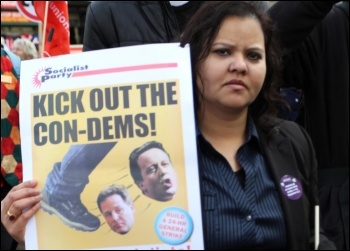Kick out the Con-Dems: on the TUC demo 20 October 2012, photo by Senan