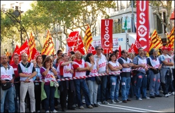 Ten million took part in a general strike in Spain 29 September 2010 that shook Spanish capitalism , photo by Sarah Wrack