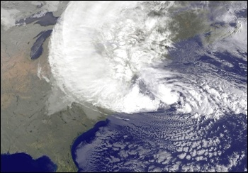 The gigantic Frankenstorm hurricane Sandy has put thousands out of their homes, left millions without power, and claimed more than 100 lives across north eastern USA, photo by NASA