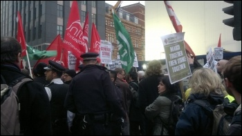 Oxford Street protest against victimisation and blacklisting in the construction industry, 14.11.12