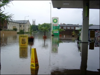 Flooding in Gloucester in 2007, photo Chris Moore