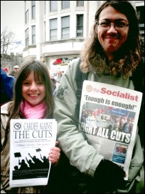 Cardiff Against the Cuts protest, photo by Becky Davis