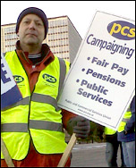 Dave Warren, PCS rep Swansea DVLA, takes part in the PCS National day of protest on 30 November 2012: 'Don't rip up our rights' , photo by R Job