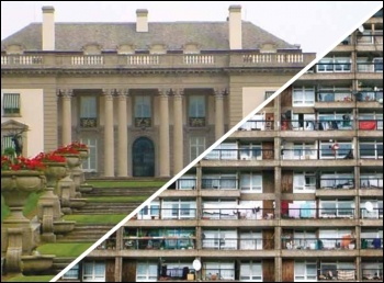 Cap rents not benefits - mansions and tower blocks - millionaires taxes get cut, bedroom tax imposed