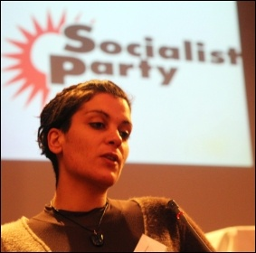 A visitor from Greece addressed Socialist Party congress 2013, photo Senan