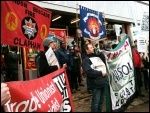 Protesting against plan to close Clapham fire station, 16.3.13, photo R. Edwards