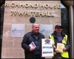 PCS picketers outside the Health Department, 20 March 2013, photo S Sachs Eldridge