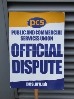PCS placard in Bristol, 20.3.13, photo Tom Baldwin