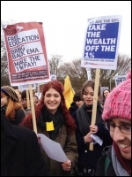Students protesting at Sussex university, photo Suzanne Beishon