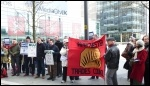NUJ and Bectu strikers at Salford Media City, 28.3.13, photo Paul Gerrard