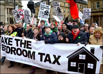 Glasgow demonstration against the bedroom tax, photo Jim Halfpenny